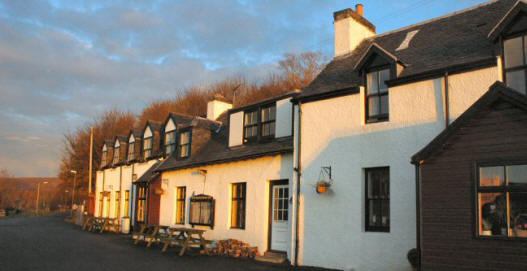 Applecross village is a very pretty little place, and there are some superb views across the Inner Sound to Raasay and Skye. This photo shows the Applecross Inn, a regular haunt of Monty Halls' during his stay at Beachcomber Cottage in Applecross.