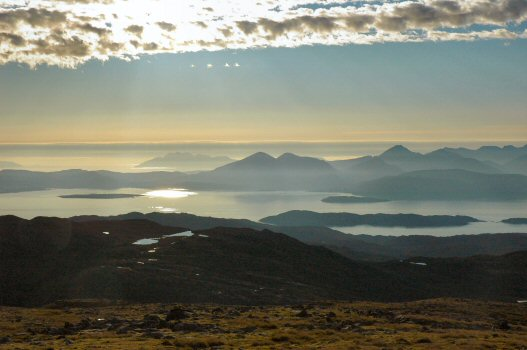 A 20-minute walk from the car park at the summit up to the TV relay station affords some even more magnificent views in all directions, especially towards the Isles of Skye and Raasay to the west.
