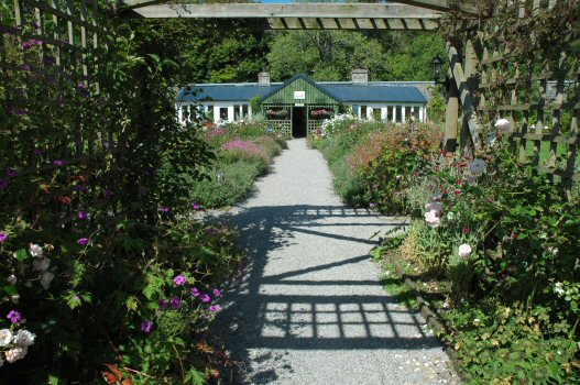 Another of the attractions at Applecross is the Walled Garden at Applecross House, which contains the Potting Shed Restaurant. As with the Applecross Inn, the Potting Shed (shown in this photo) has a good reputation for excellent food.