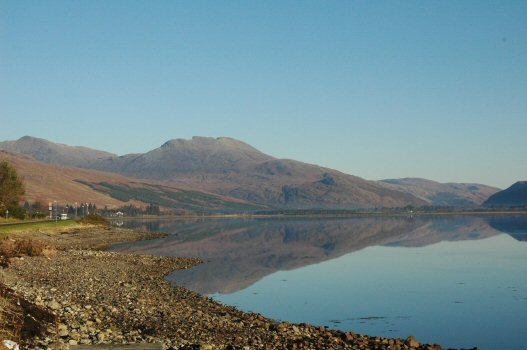 "A tranquil November day looking towards the head of Loch Carron with ""Wellington"" in the background."